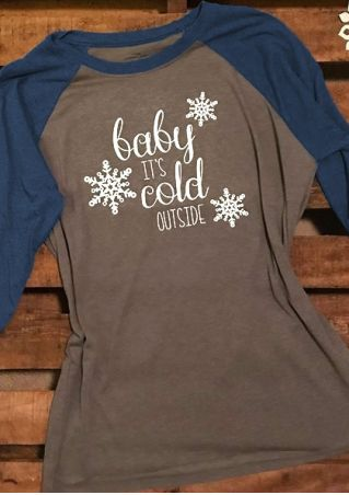 Baby It's Cold Outside Baseball T-Shirt