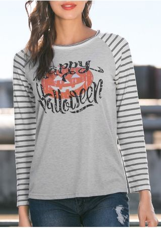 Happy Halloween Pumpkin Baseball T-Shirt