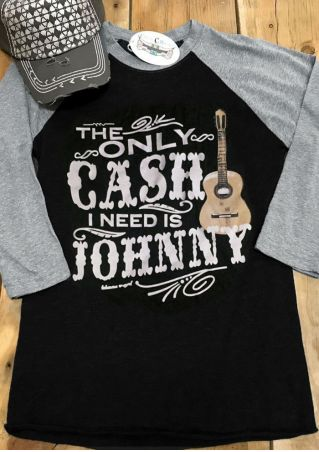 The Only Cash I Need Is Johnny Baseball T-Shirt