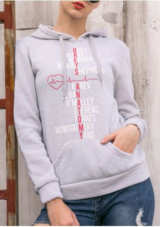 Greys Anatomy Heart Beat Cross Hoodie