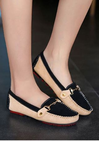 Splicing Slip-On Espadrilles Flats