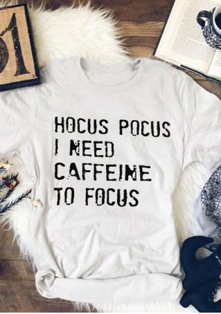 Hocus Pocus I Need Caffeine To Focus T-Shirt