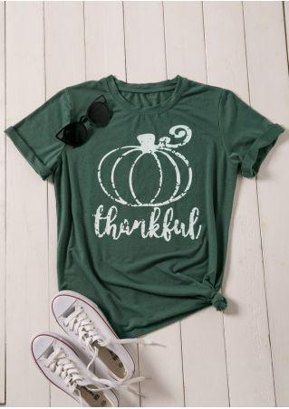 Thankful Pumpkin Short Sleeve T-Shirt