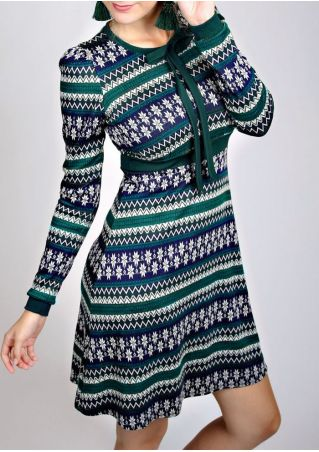 Snowflake Tie Mini Dress without Necklace