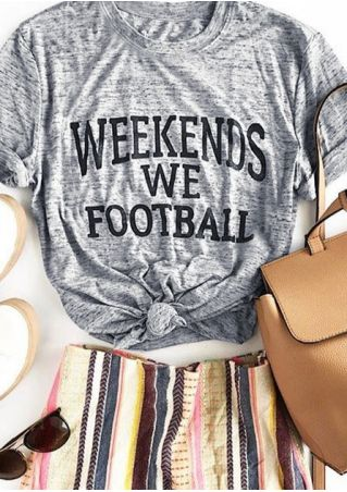 Weekends We Football Short Sleeve T-Shirt
