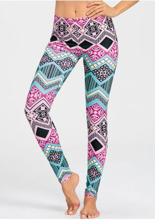 Geometric Printed Skinny Leggings