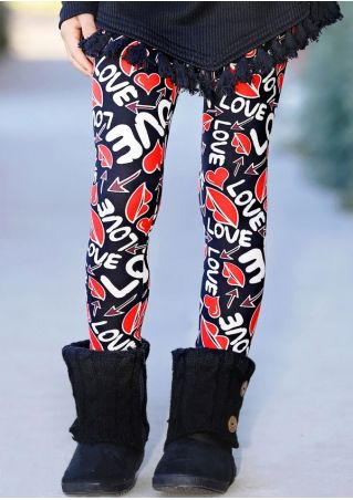 Love Lips Arrow Skinny Leggings