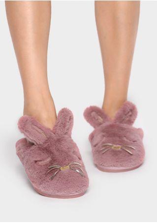 Rabbit Faux Fur Slippers