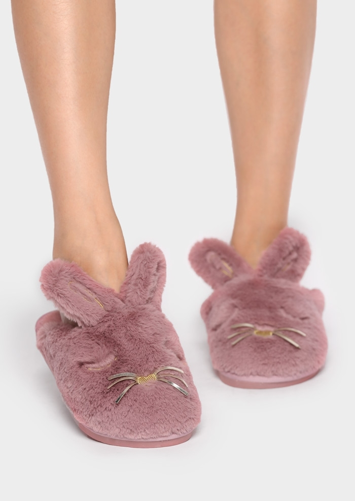 Rabbit Faux Fur Slippers