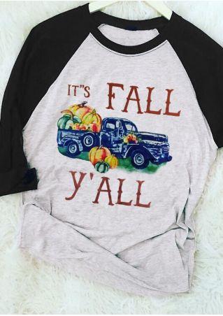 It's Fall Y'all Pumpkin Baseball T-Shirt