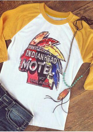 Indianhead Motel Vacancy Baseball T-Shirt