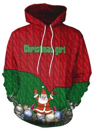 3D Christmas Girl Santa Claus Hoodie