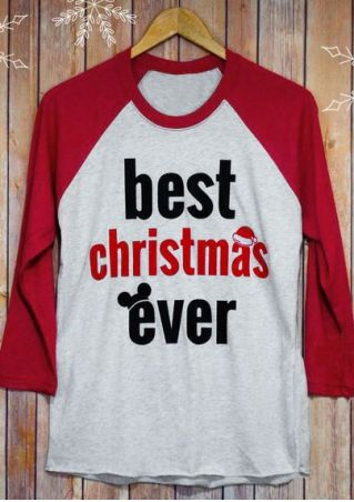 Best Christmas Ever Mouse Baseball T-Shirt