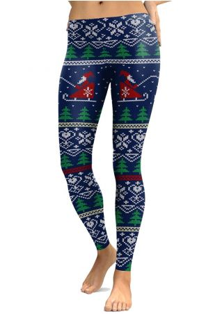 Christmas Tree Santa Claus Leggings