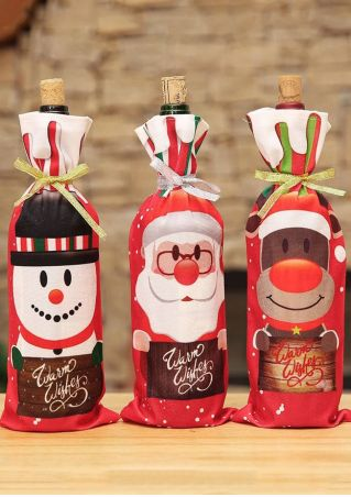 Christmas Santa Claus Wine Bottle Cover