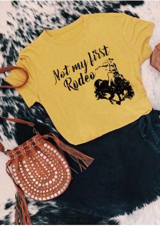 Not My First Rodeo Cowboy Bull T-Shirt
