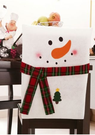 Christmas Decoration Snowman Chair Cover