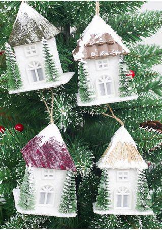 LED Christmas Tree House Pendant
