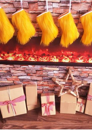 Faux Fur Christmas Tree Skirt Stocking