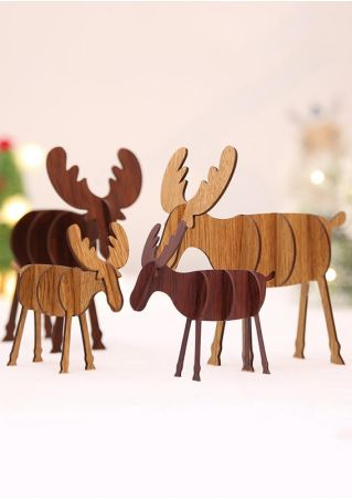 Christmas DIY Wooden Reindeer Decoration