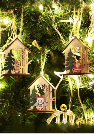 Christmas Tree Cabin Hanging Decoration