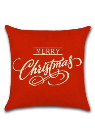 Merry Christmas Square Pillow Case