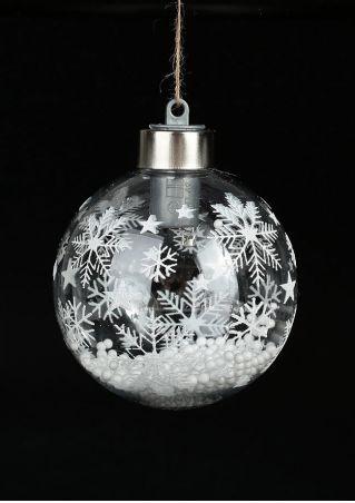 Snowflake LED Ball Hanging Decoration