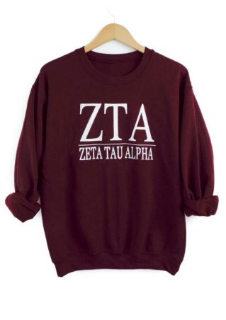 Letter Printed Long Sleeve Sweatshirt