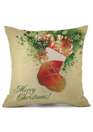 Merry Christmas Santa Linen Pillow Case