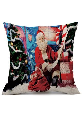 Christmas Santa Tree Star Pillow Case