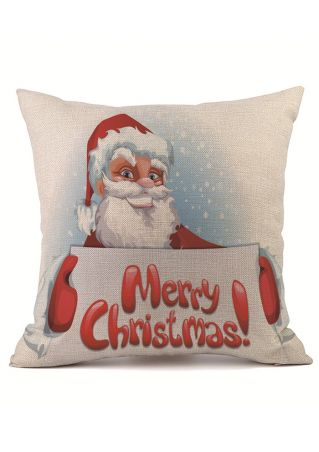 Christmas Santa Snowman Tree Pillow Case