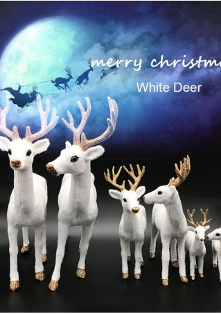 Merry Christmas White Elk Decoration