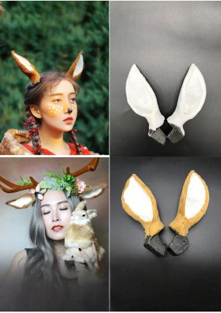 Christmas Xmas Elk Ears Headband