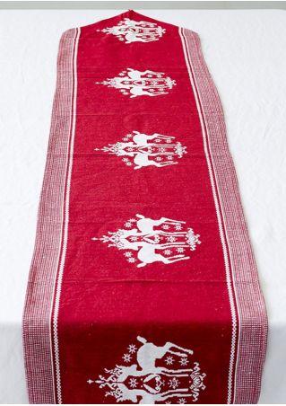 Christmas Elk Tassel Table Flag