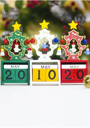Christmas Tree Star Wooden Calendar