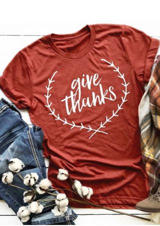 Give Thanks Branch Short Sleeve T-Shirt