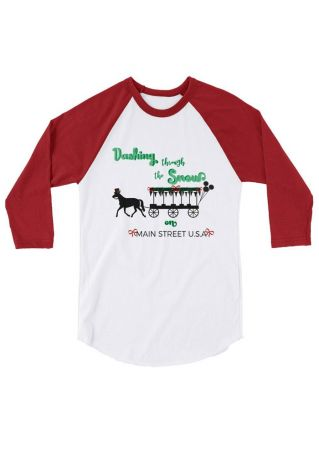 Dashing Through The Snow Baseball T-Shirt