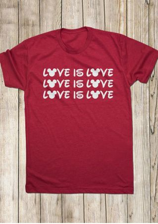 Love Is Love Mouse T-Shirt