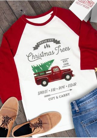 Christmas Trees Car Baseball T-Shirt