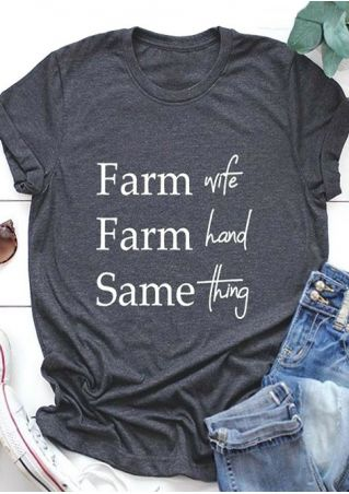 Farm Wife Farm Hand Same Thing T-Shirt