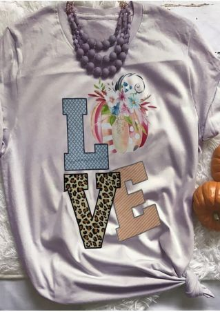 Love Pumpkin Short Sleeve T-Shirt