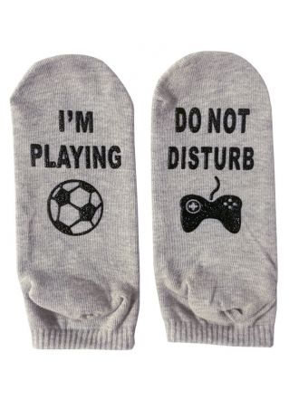 I'm Playing Do Not Disturb Football Socks