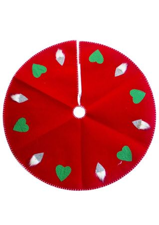 Christmas Heart Nisse Gnome Tree Skirt