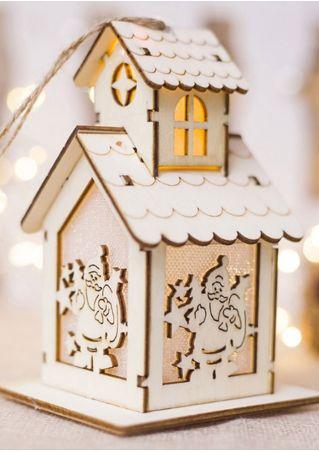 Christmas Cabin LED Hanging Decoration