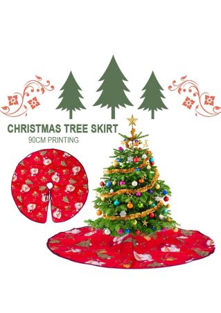 Christmas Floral Tree Skirt