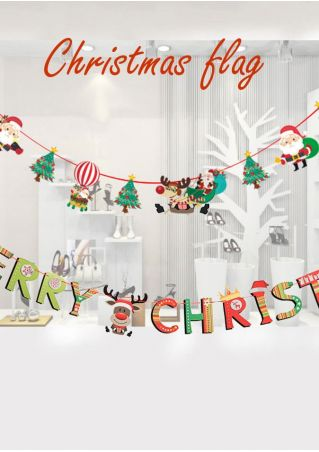Merry Christmas Double-Sided Paper Banner