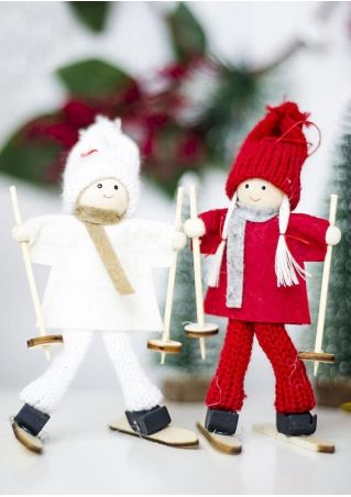 Skiing Doll Hanging Decoration