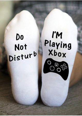 Do Not Disturb I'm Playing Xbox Socks