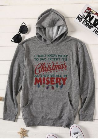 It's Christmas Misery Pocket Hoodie