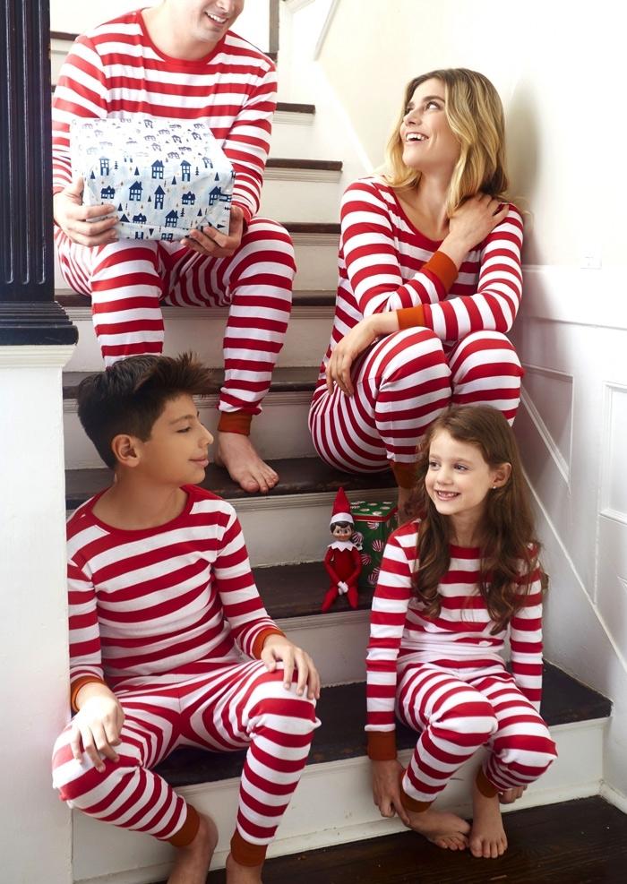 matching famliy striped pajama set